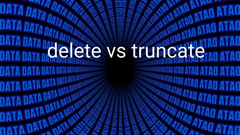 Diferença entre DELETE e TRUNCATE em SQL