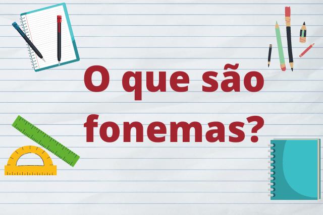 O que são fonemas?